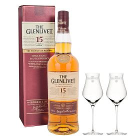 The Glenlivet 15 Years Old French Oak Reserve + 2 bicchieri Glenlivet