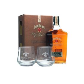 Jim Beam Signature Craft 12 Year Old con bicchieri