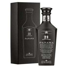 Panama 21 Years Old Black Decanter - Rum Nation