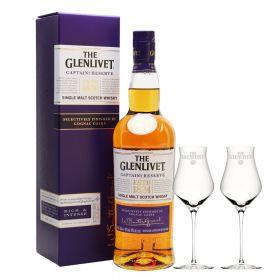 The Glenlivet Captain's Reserve + 2 bicchieri Glenlivet