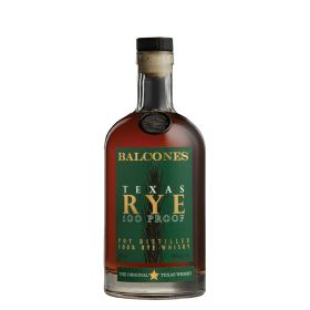 Balcones Texas Rye 100 Proof.
