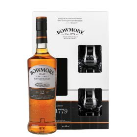 Bowmore 12 Years Old Gift Pack con bicchieri