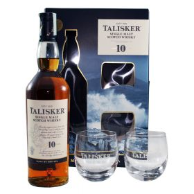 Talisker 10 Years Old Gift Box con bicchieri