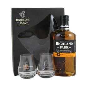 Highland Park 12 confezione con bicchieri