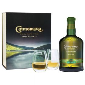 Connemara Peated Original Gift Box con bicchieri