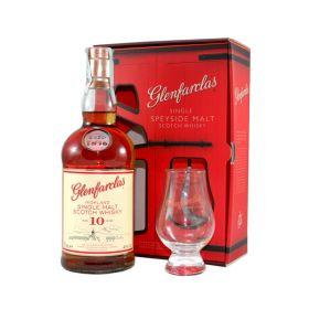 Glenfarclas 10 Years Old confezione con bicchieri