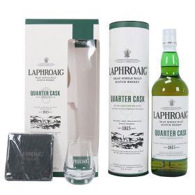 Laphroaig Quarter Cask Gift Box con bicchiere e sottobicchiere